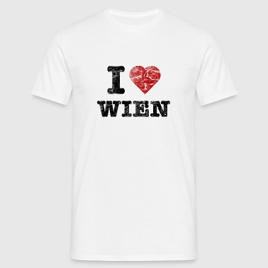 i_love_wien_vintage_dark Sous-vêtements - T-shirt Homme