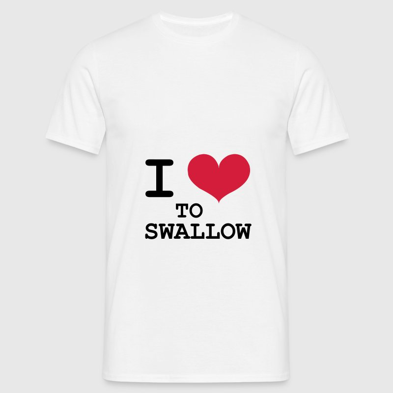 I Love To Swallow [Porn / Sex] T-shirts - Herre-T-shirt