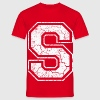 Letter S in white in the used look T-Shirts - Men's T-Shirt