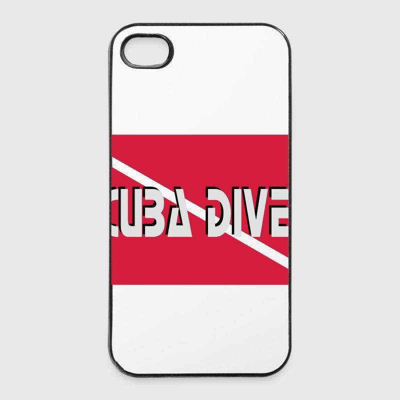 IPhone Cover Taucher-Flagge - iPhone 4/4s Hard Case