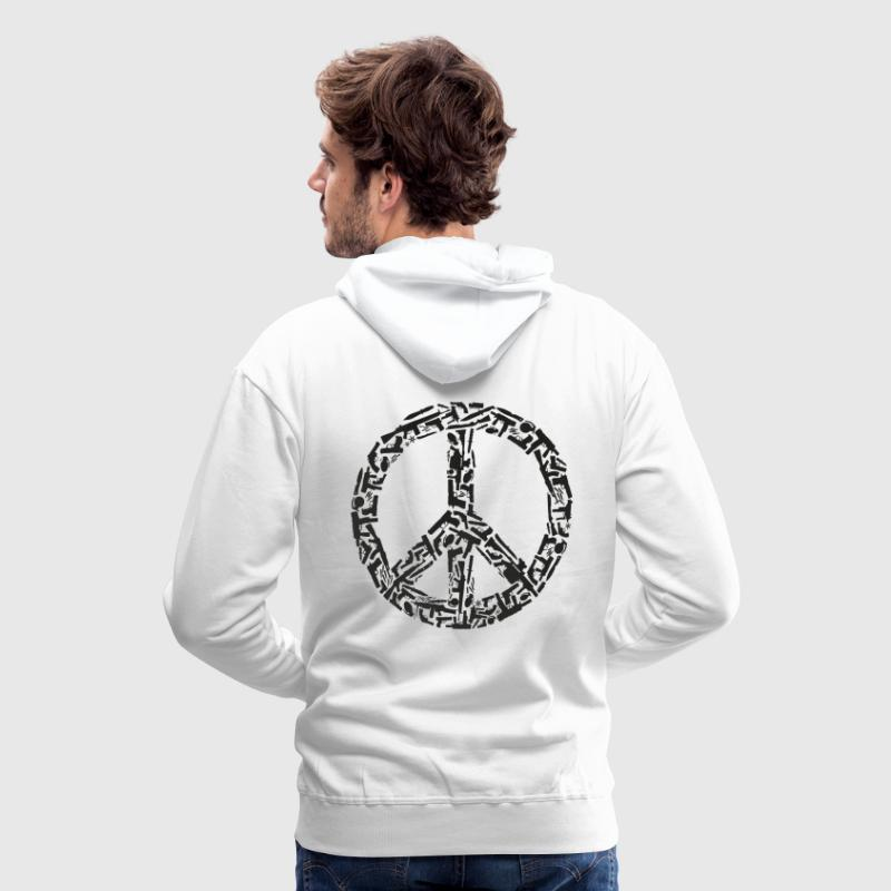 Peace sign made of guns, black - Men's Premium Hoodie