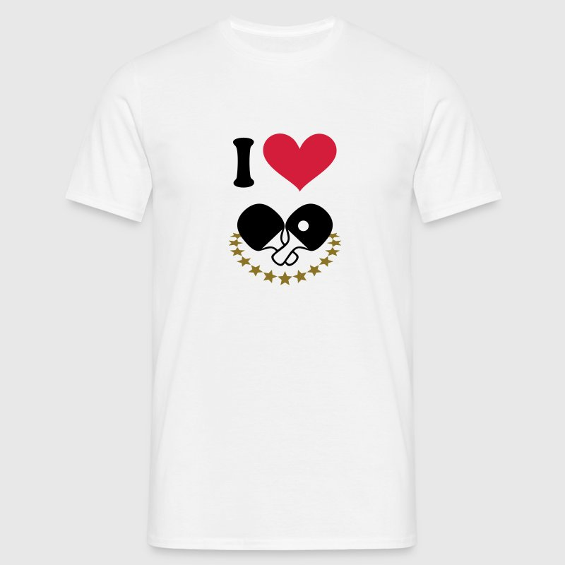 I love, I heart. Table tennis.  T-Shirts - Men's T-Shirt