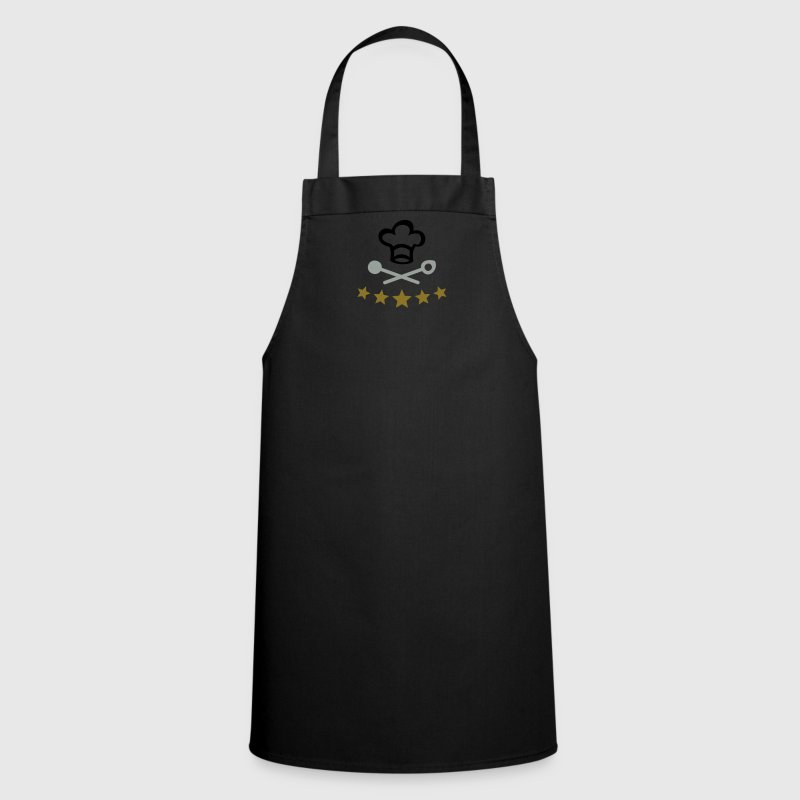 Chef BBQ Grill Cook Chef's Hat 5 Stars Star  Apron - Cooking Apron