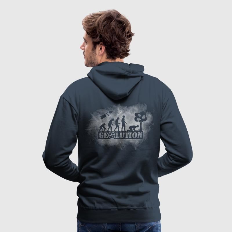 Geolution-light-grunge Hoodies & Sweatshirts - Men's Premium Hoodie