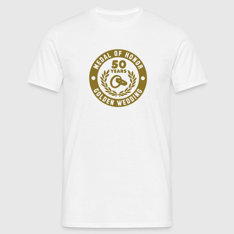 MEDAL OF HONOR 50th GOLDEN WEDDING T-Shirt - Herre-T-shirt