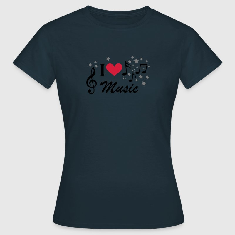 I love Music. Music is my life, notes, heart, clef - Women's T-Shirt