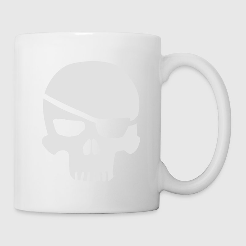 skull eyepatch Bottles & Mugs - Mug