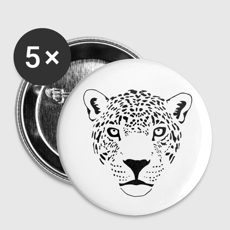 katze gepard leopard tiger löwe panther cat Buttons / Anstecker - Buttons groß 56 mm