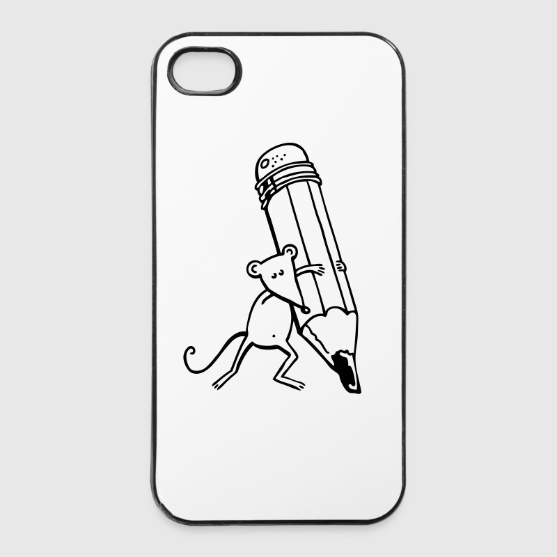 Maus mit Stift Sonstige - iPhone 4/4s Hard Case