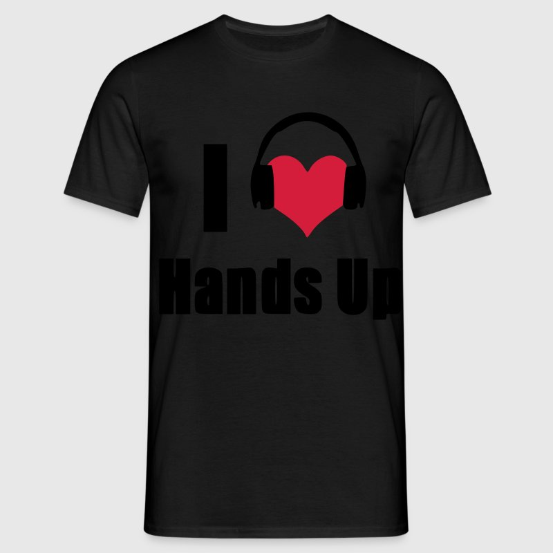 I Love Hands Up Headphones T-Shirts - Männer T-Shirt