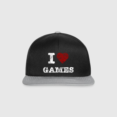 i love games vintage light Väskor - Snapbackkeps