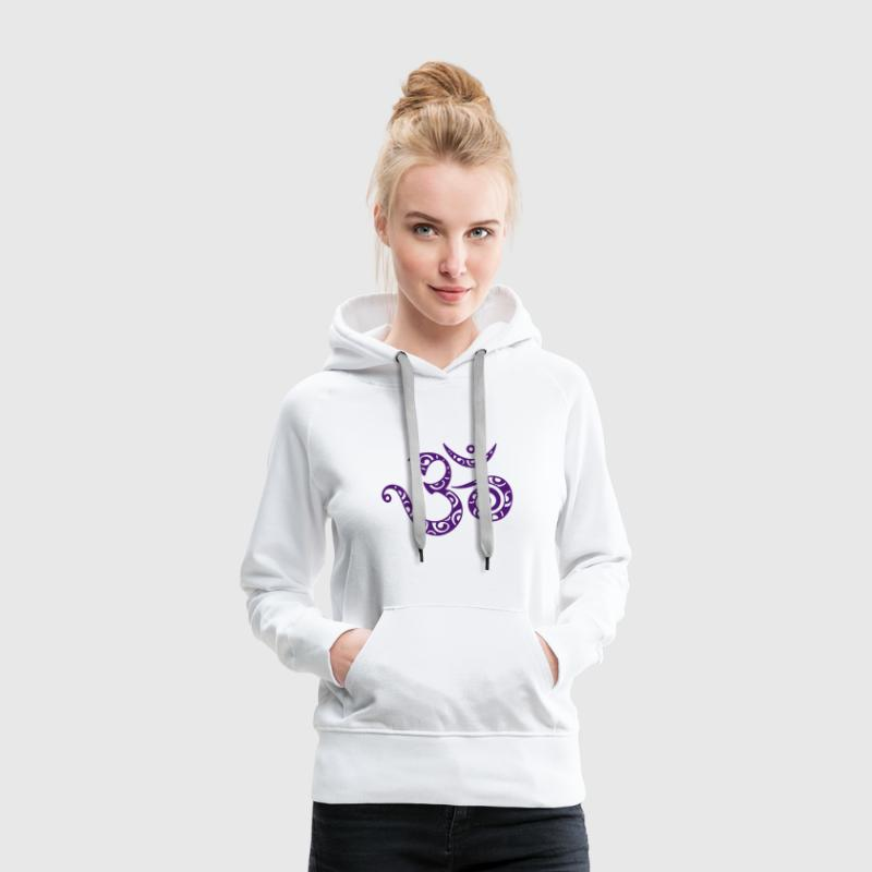 OM (AUM) - I AM - Symbol of spiritual strength Hoodies & Sweatshirts - Women's Premium Hoodie