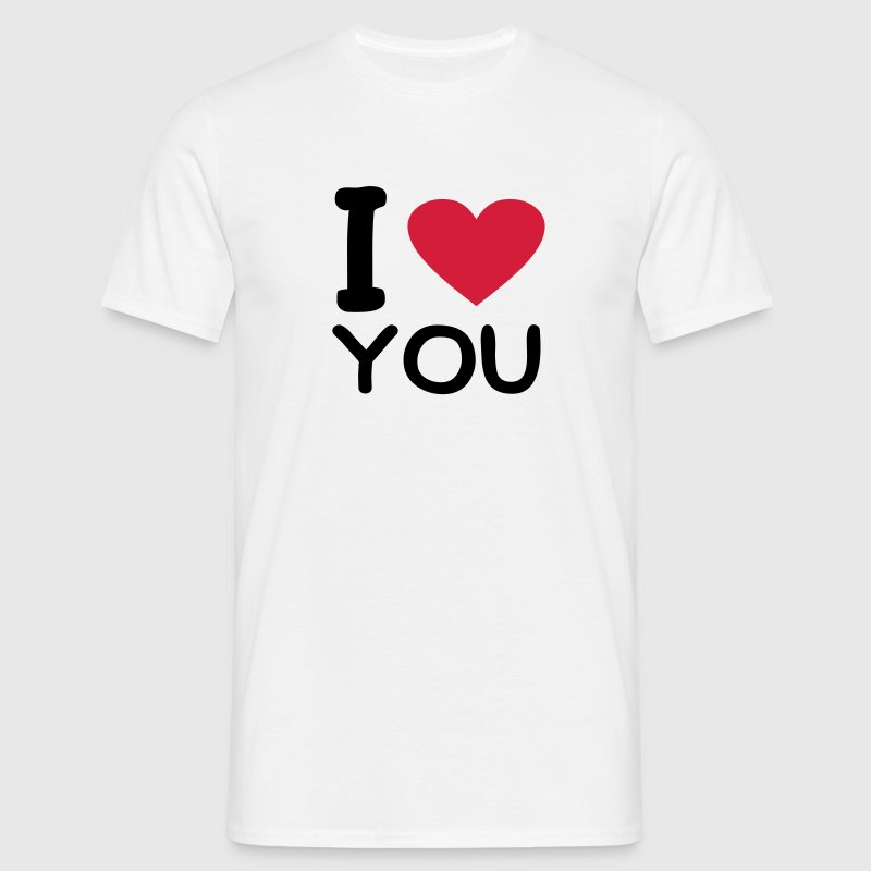 Blanco I love you Camisetas - Camiseta hombre