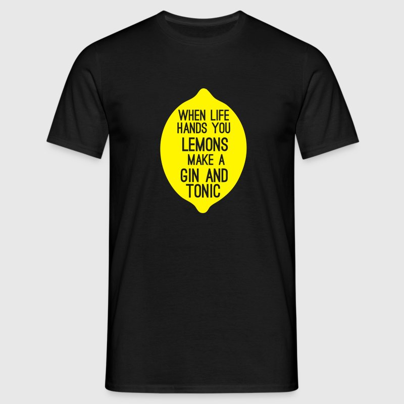 lemons make a good gin and tonic T-Shirts - Männer T-Shirt