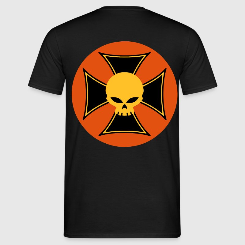 skull and maltese cross Camisetas - Camiseta hombre