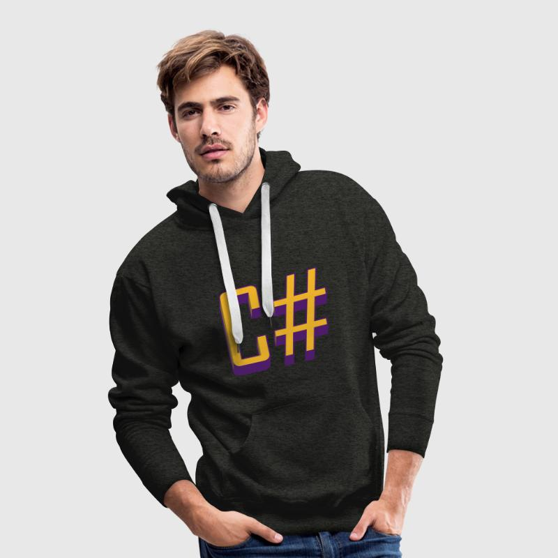 Programming Languages: C# / C sharp (Classic) Hood - Men's Premium Hoodie