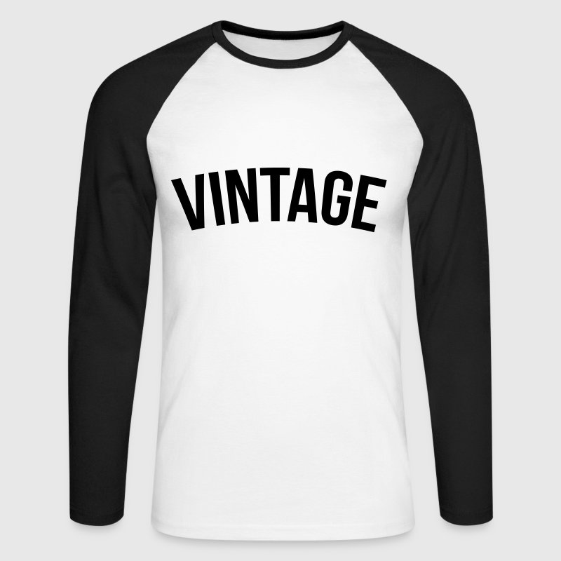 vintage old school  Tee shirts manches longues - T-shirt baseball manches longues Homme
