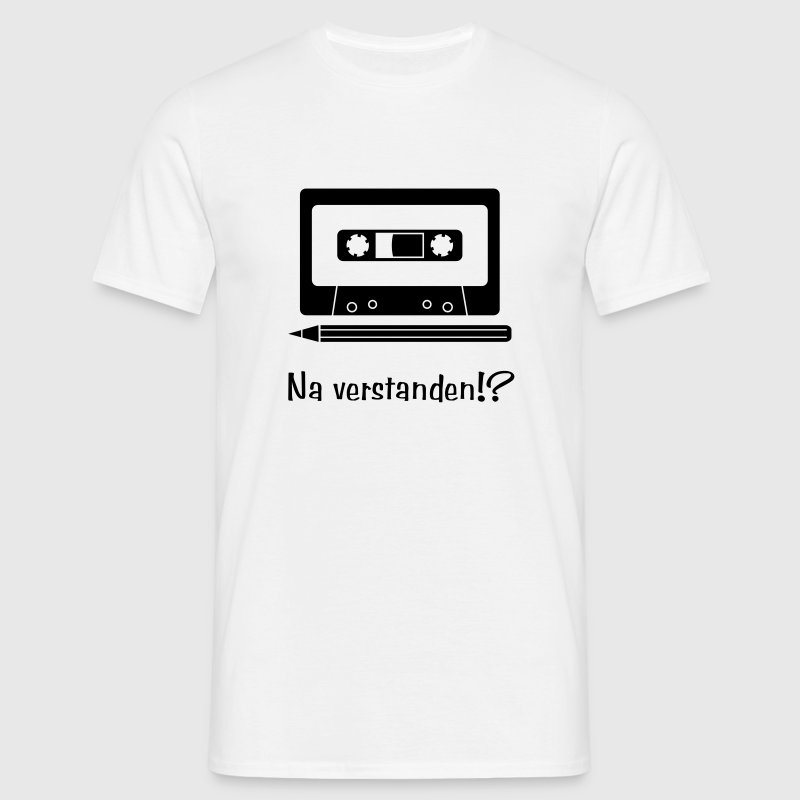 Cassette and Pencil T-Shirts - Men's T-Shirt