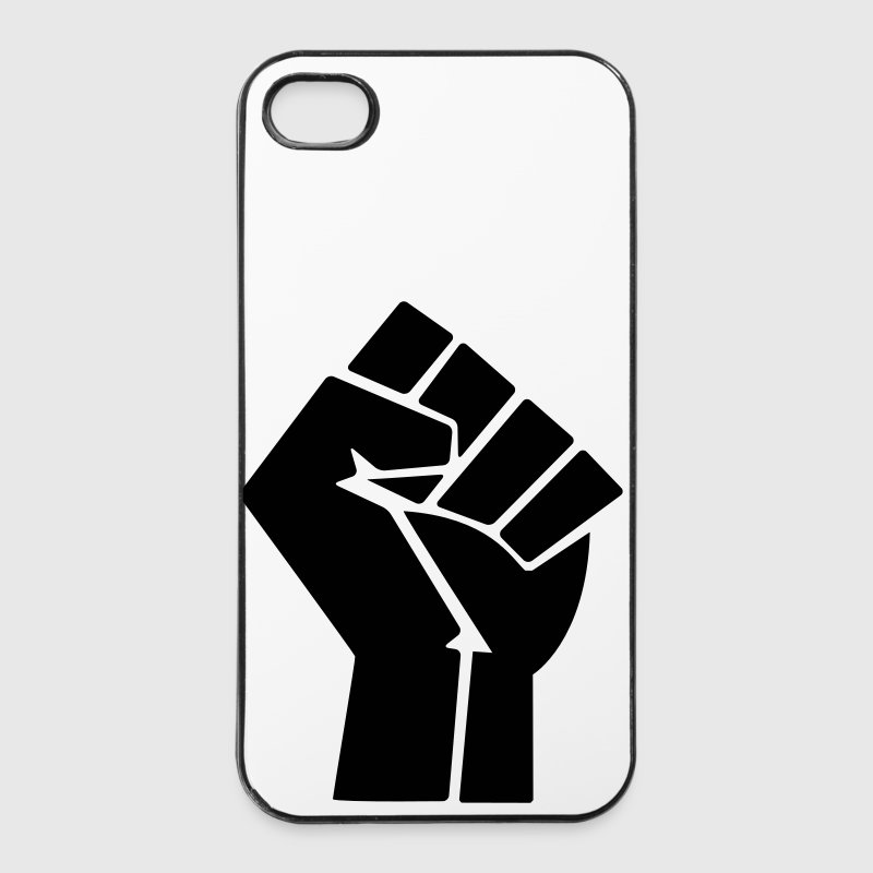 Poing levé Iphone - Coque rigide iPhone 4/4s