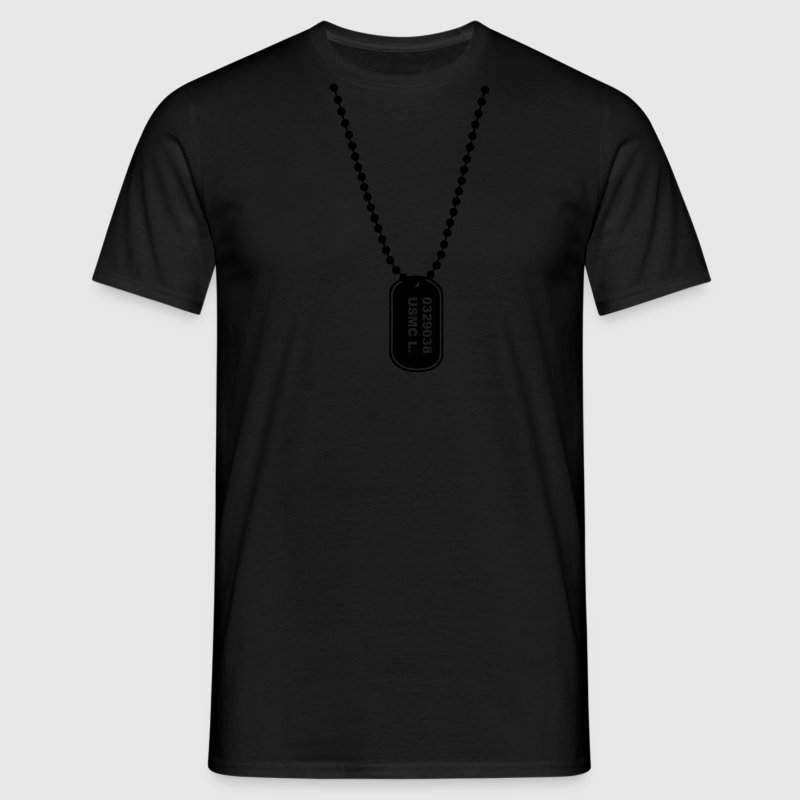 dogtag necklace ketting T-shirts - Mannen T-shirt
