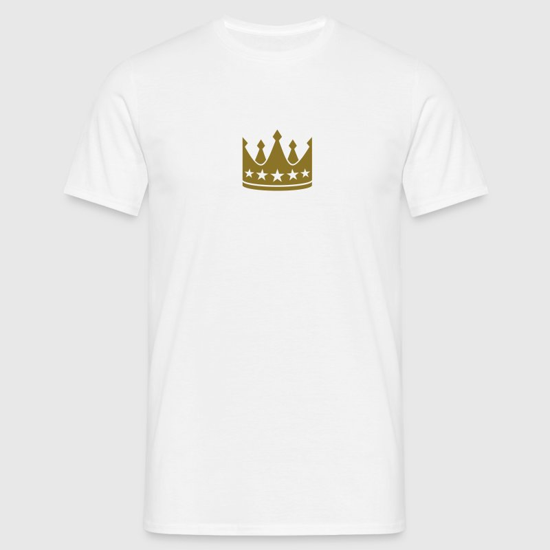 Crown with 5 Stars. Coronet King Queen T-Shirts - Men's T-Shirt
