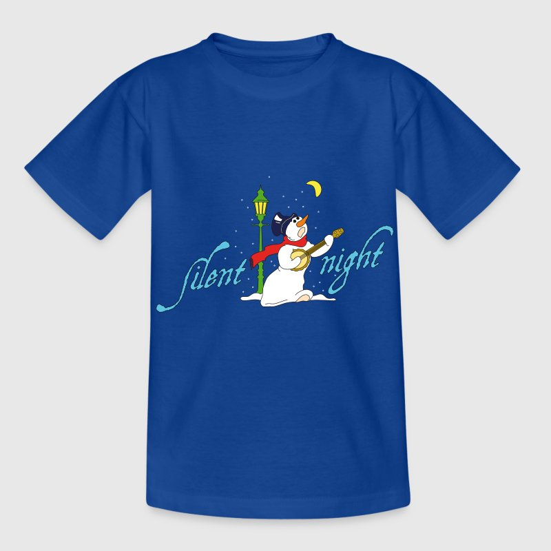Kindershirt Silent night (Schneemann) - Kinder T-Shirt