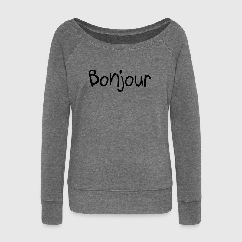 Bonjour Hoodies & Sweatshirts - Women's Boat Neck Long Sleeve Top
