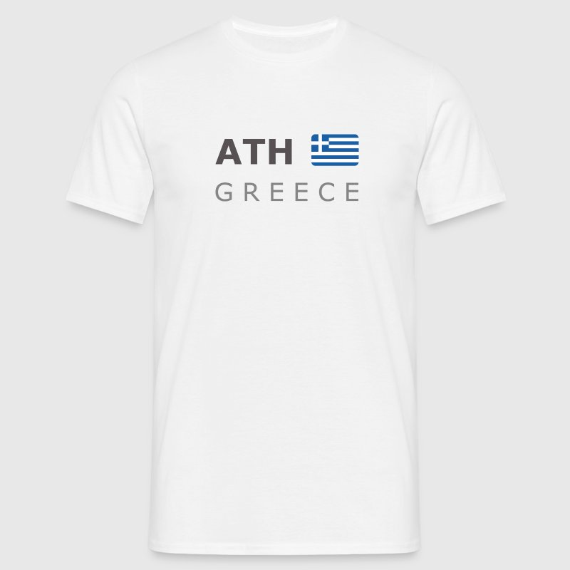 ATH GREECE dark-lettered 400 dpi T-shirt - Maglietta da uomo