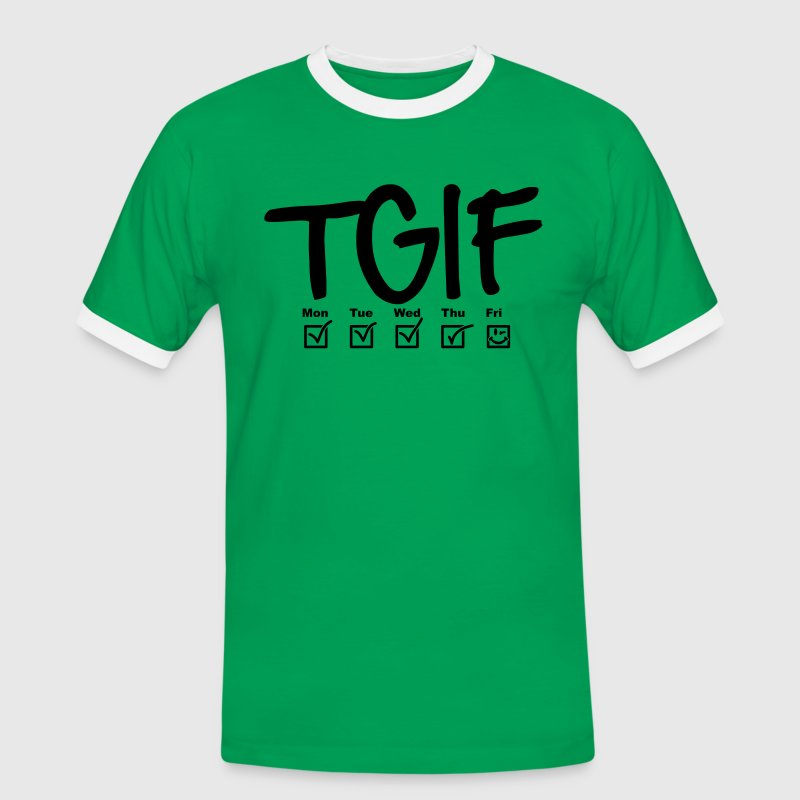 TGIF - Thank god it's friday T-Shirts - Männer Kontrast-T-Shirt