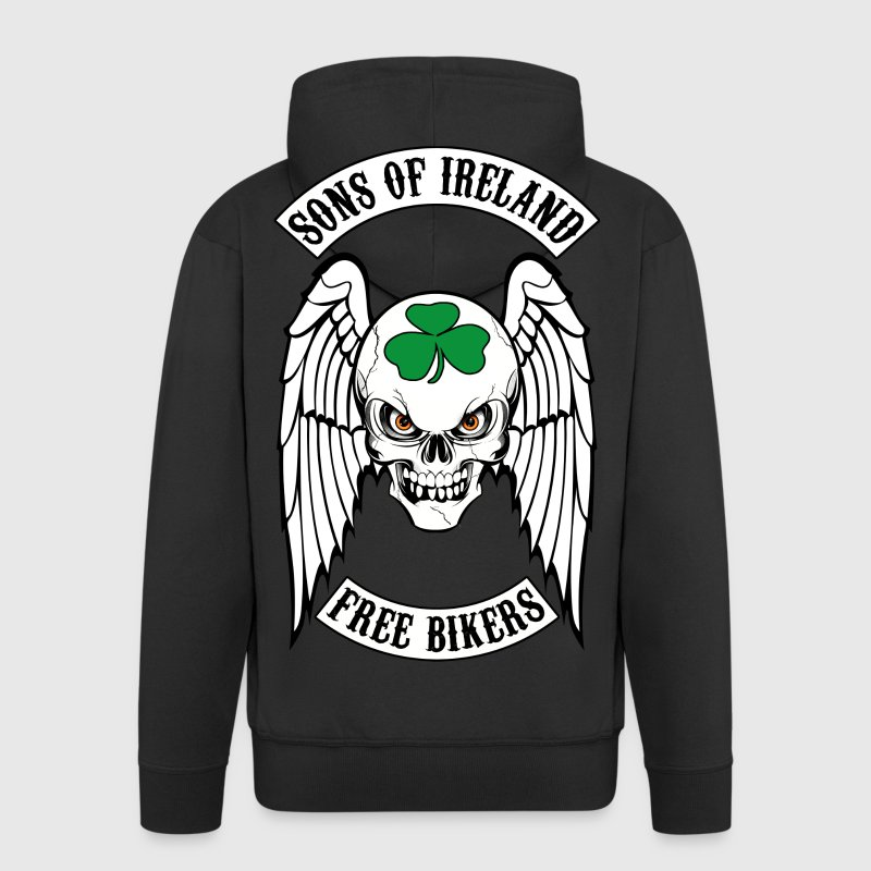 bikers - sons of ireland Hoodies & Sweatshirts - Men's Premium Hooded Jacket