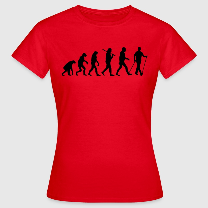 evolution of nordic walking Camisetas - Camiseta mujer