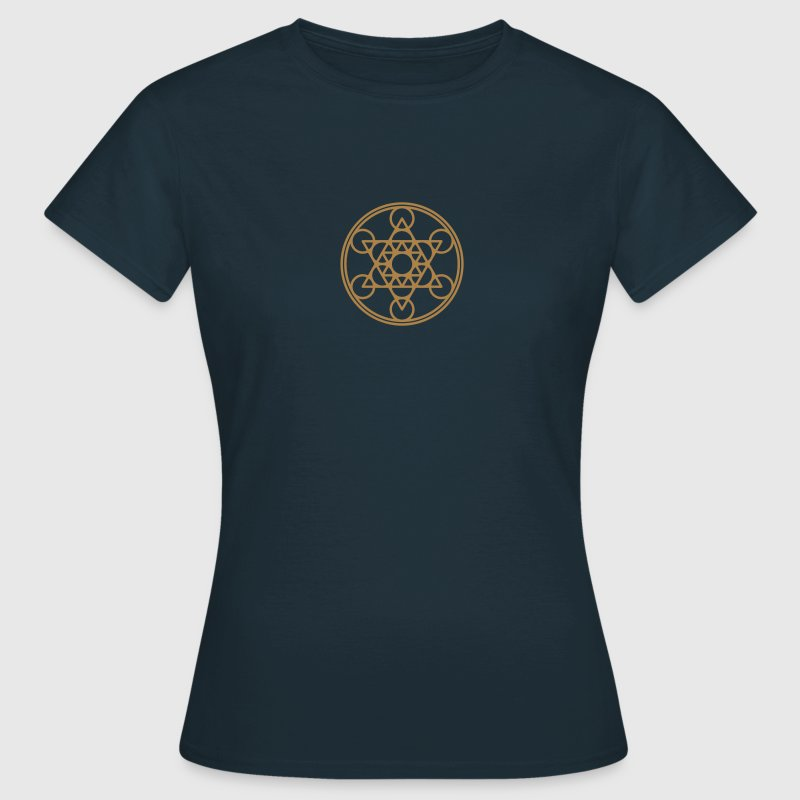 Metatrons Cube, Star Tetrahedron,  Flower of Life/ - Women's T-Shirt
