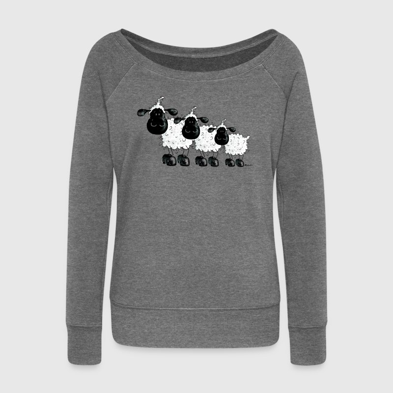 Sheep Shirt - cute and funny t-shirt design Hoodies & Sweatshirts - Women's Boat Neck Long Sleeve Top
