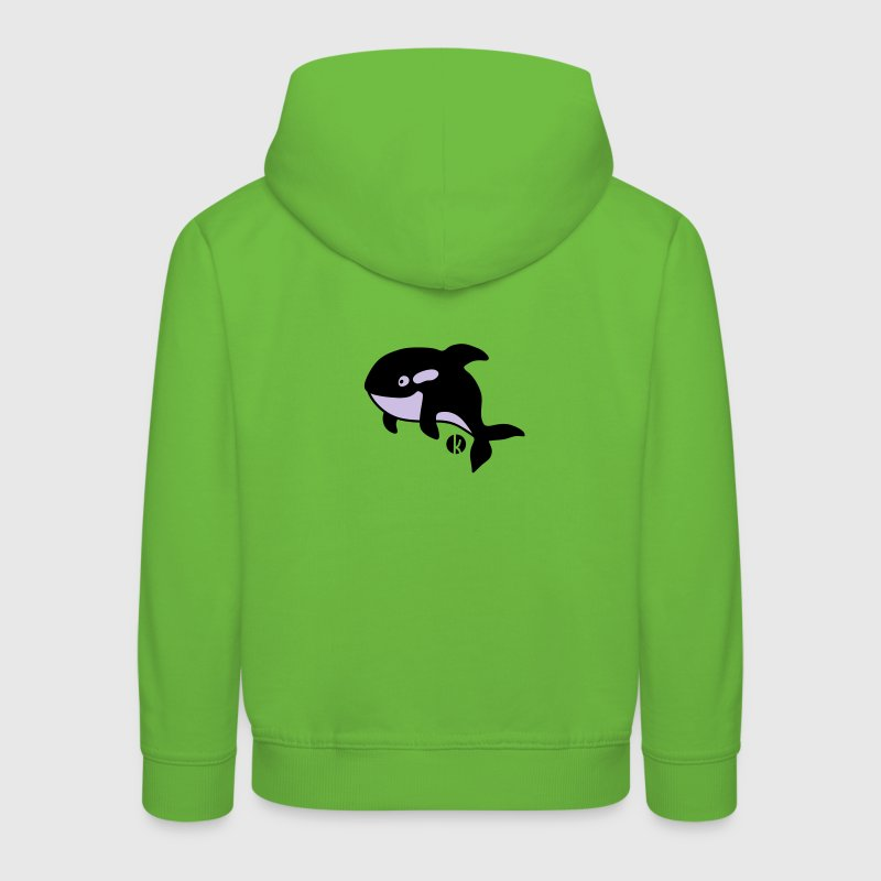 Orka - Orca - Wal - Whale Sweaters - Kinderen trui Premium met capuchon