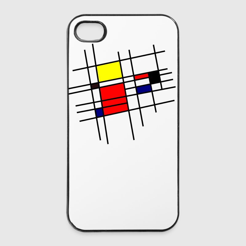 Mondrian Inspiration - Coque rigide iPhone 4/4s