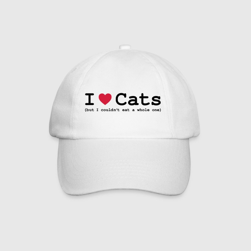 I Love Cats - But I Couldn't Eat A Whole One - Baseball Cap