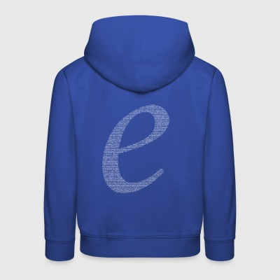 Numbers in decimals: Natural Constant e T-Shirts - Kids' Premium Hoodie