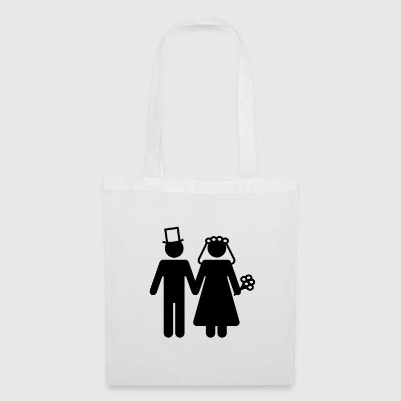 Stoffen Tas Eigen Tekst : Bruid en bruidegom voeg uw eigen tekst tas spreadshirt