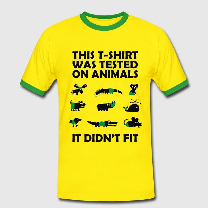 Tested on Animals - Didn't Fit T-shirts - Herre kontrast-T-shirt