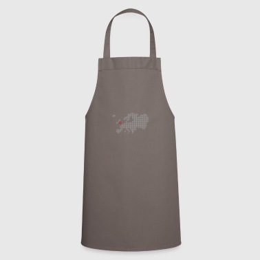 White/navy England Bags  - Cooking Apron