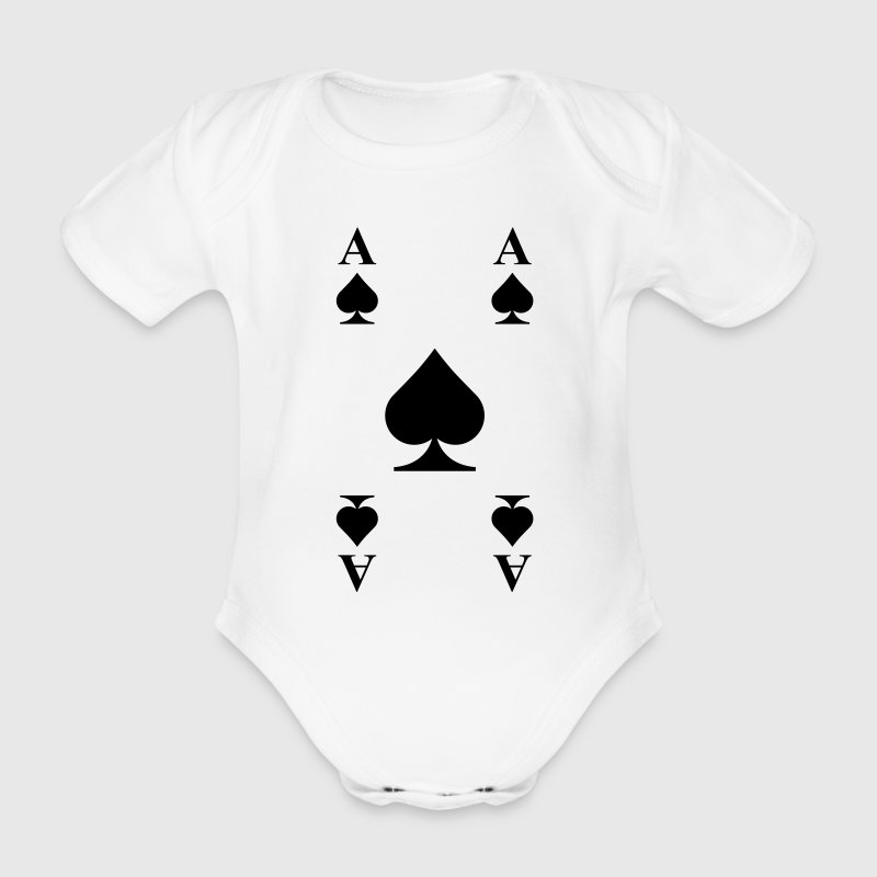 Ace of spades  Shirts - Organic Short-sleeved Baby Bodysuit