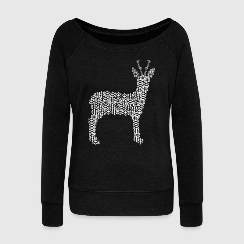 Star roe deer Hoodies & Sweatshirts - Women's Boat Neck Long Sleeve Top
