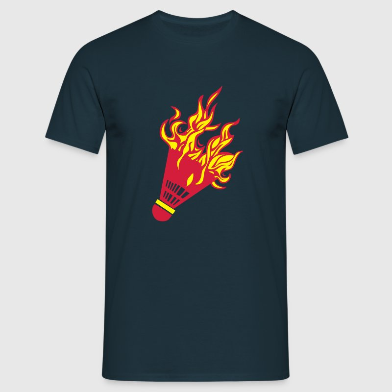 badminton shuttlecock flame fire Fire1 - Men's T-Shirt