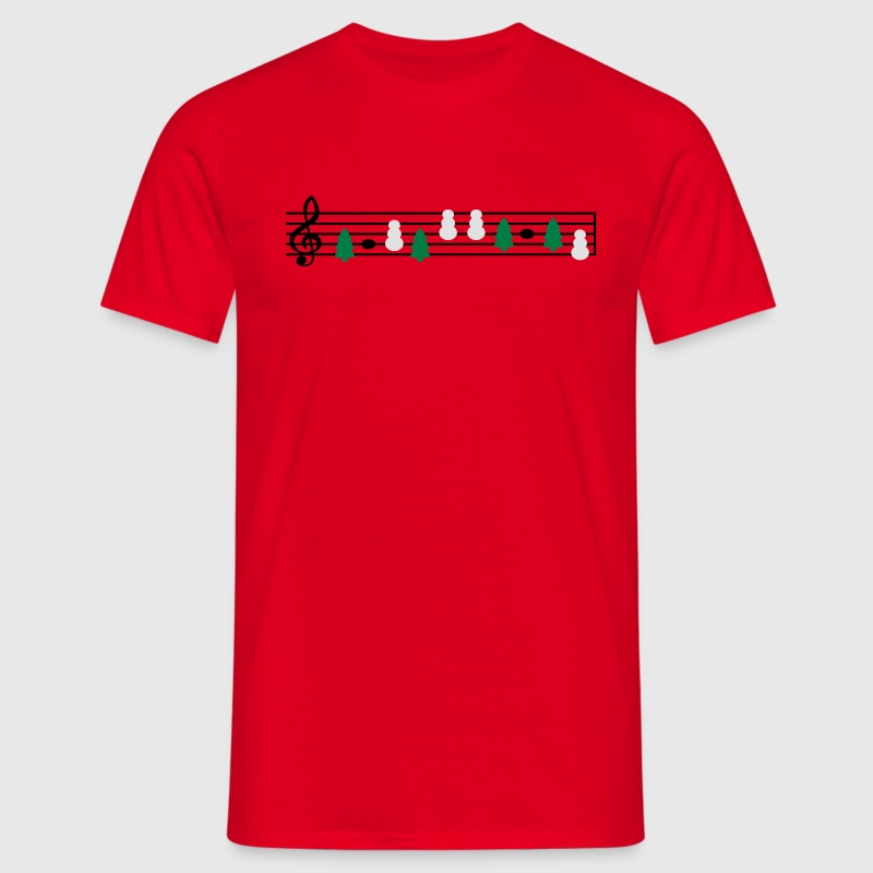 christmas music sheet music T-Shirts - Men's T-Shirt