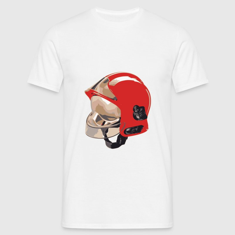 firefighter helmet f1 red man of rank T-Shirts - Men's T-Shirt