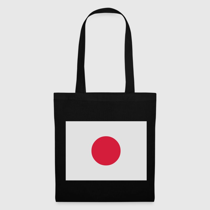Black Japanese Flag Bags  - Tote Bag