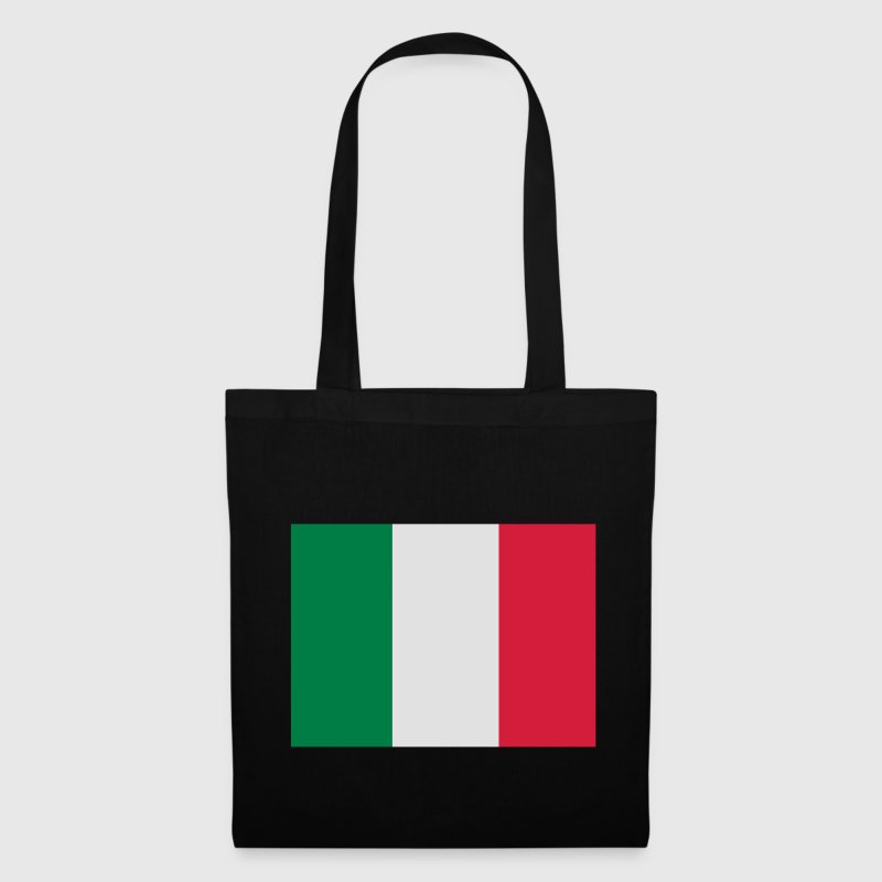 Black Italian Flag Bags  - Tote Bag