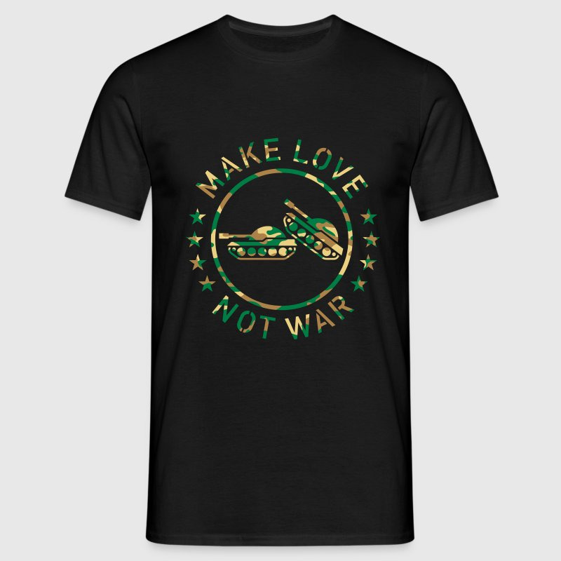 Make Love Not War (Camouflage) T-Shirt - Men's T-Shirt