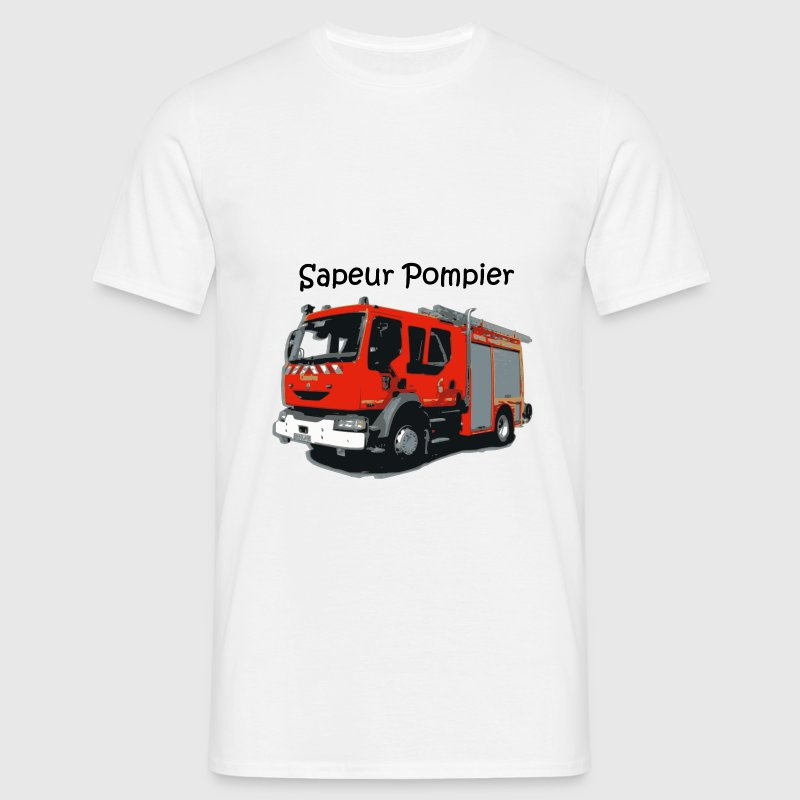 camion pompier Tee shirts - T-shirt Homme