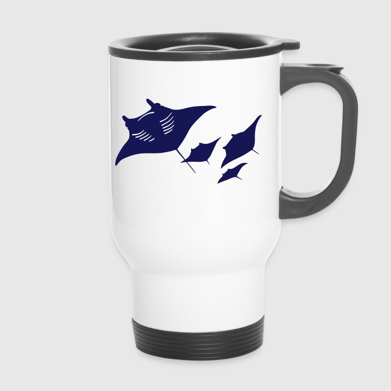 manta ray fish scuba diving dive diver ocean Bottles & Mugs - Travel Mug